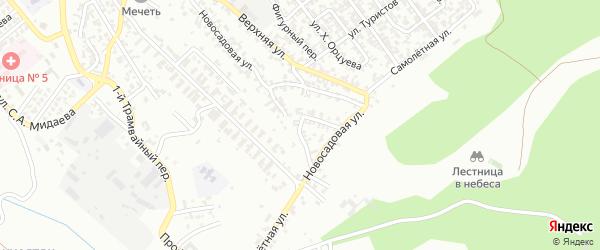 Витебская улица на карте Грозного с номерами домов