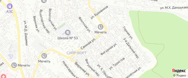 Сенная улица на карте Грозного с номерами домов