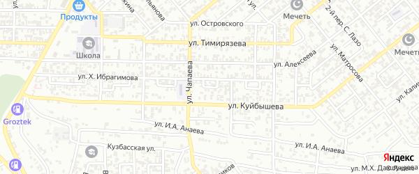 Багратиона 2-й переулок на карте Грозного с номерами домов