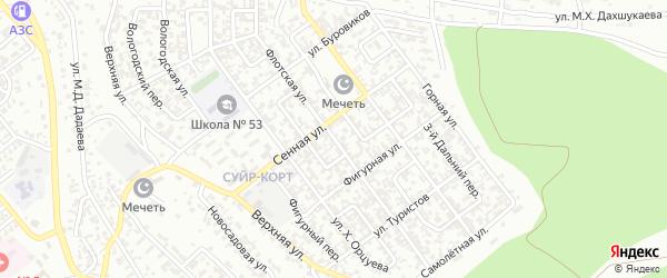 Флотская улица на карте Грозного с номерами домов