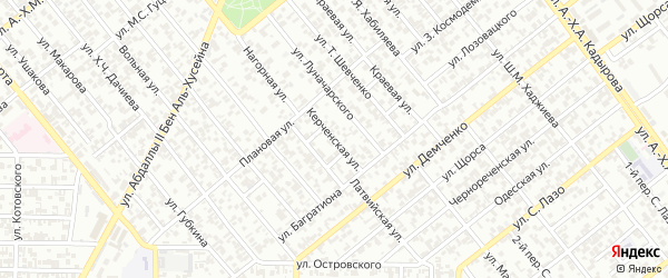 Керченская улица на карте Грозного с номерами домов