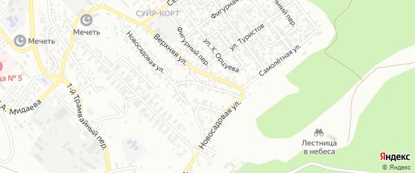 Новосадовая улица на карте Грозного с номерами домов