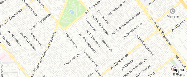 Улица Шевченко на карте Грозного с номерами домов