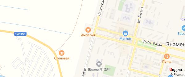 Волгоградская улица на карте Знаменска с номерами домов