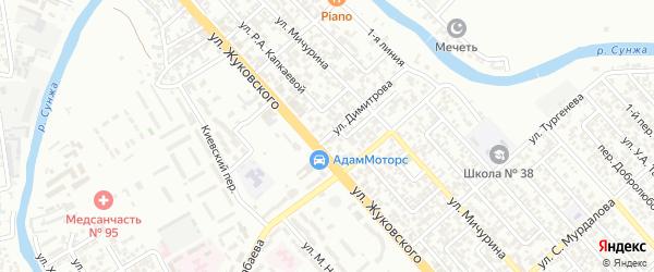Тургенева 2-й переулок на карте Грозного с номерами домов