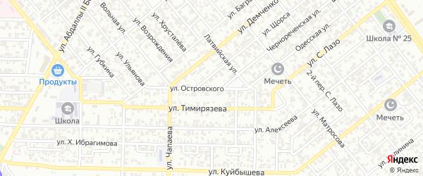 Улица им Н.Островского на карте Грозного с номерами домов