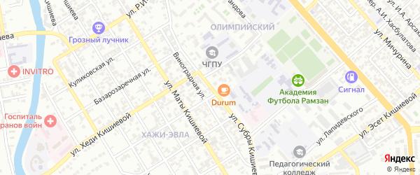 Киевская улица на карте Грозного с номерами домов