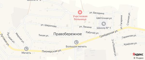 Улица Маяковского на карте Правобережного села с номерами домов