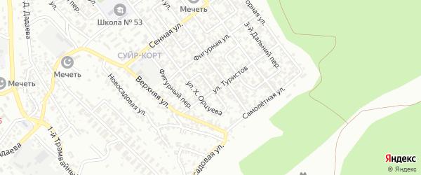 Флотский 3-й переулок на карте Грозного с номерами домов