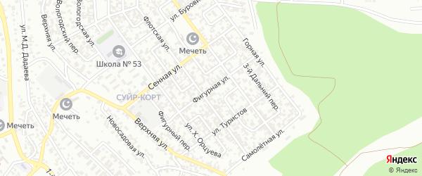 Фигурная улица на карте Грозного с номерами домов