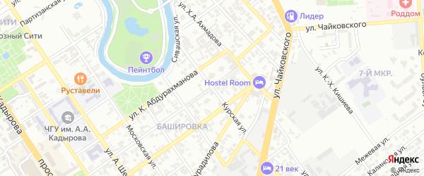 Курская улица на карте Грозного с номерами домов