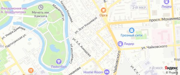 Угловая улица на карте Грозного с номерами домов