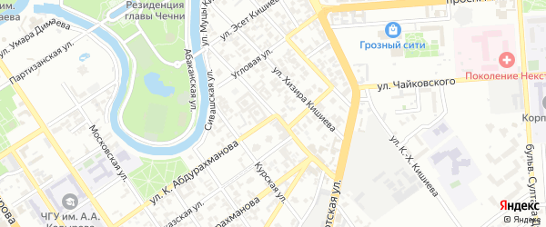 Улица им Х.С.Сайгадинова на карте Грозного с номерами домов