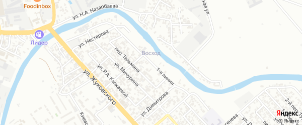 Улица Тельмана на карте Грозного с номерами домов