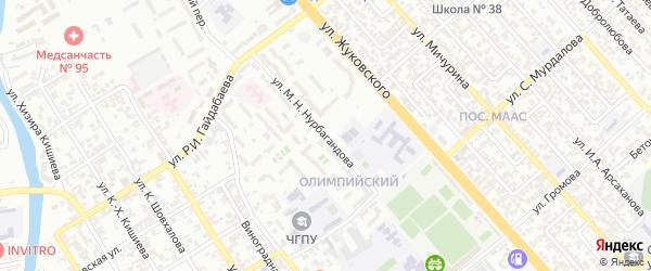 Олимпийский проезд на карте Грозного с номерами домов