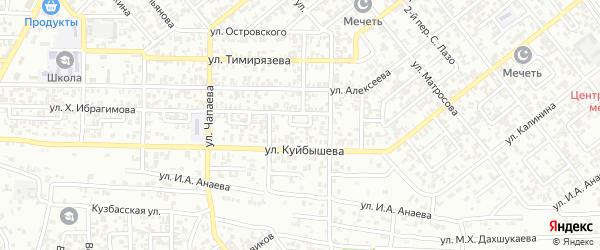 Им Громова 4-й переулок на карте Грозного с номерами домов