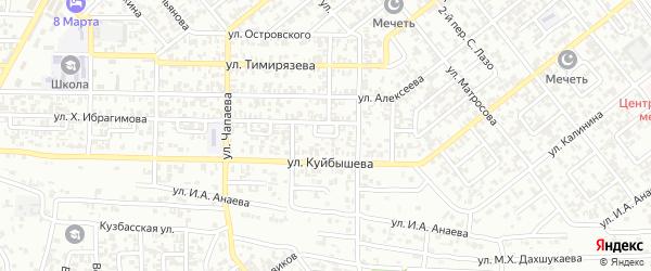 Кирова 1-й переулок на карте Грозного с номерами домов