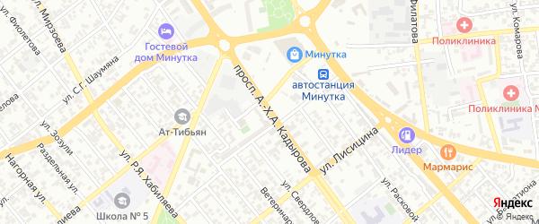 Переулок А.Кадырова на карте Грозного с номерами домов