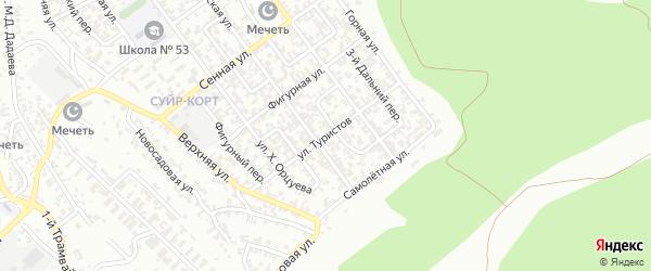 Улица Туристов на карте Грозного с номерами домов