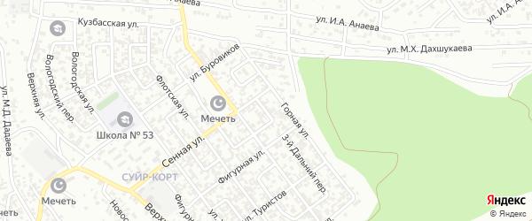 Дальний 2-й переулок на карте Грозного с номерами домов