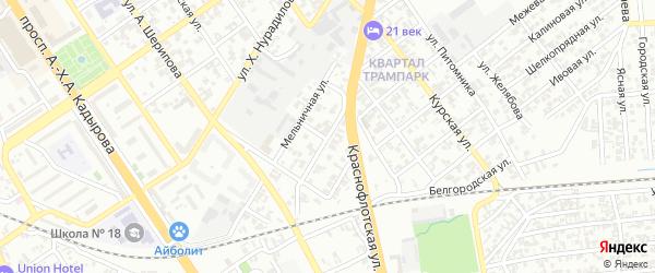 Севастопольская улица на карте Грозного с номерами домов