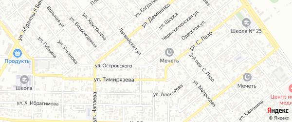 Латвийская улица на карте Грозного с номерами домов