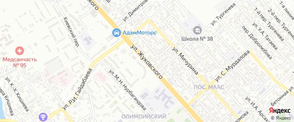 Улица им Жуковского на карте Грозного с номерами домов
