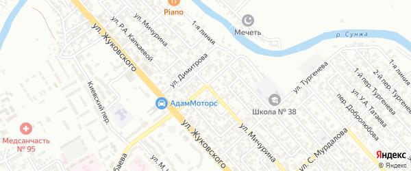 Улица Саидова Билала Саидовича на карте Грозного с номерами домов