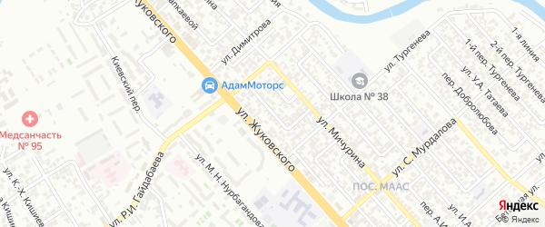 Переулок Радищева на карте Грозного с номерами домов