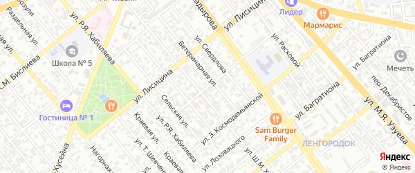 Улица им Е.Ярославского на карте Грозного с номерами домов