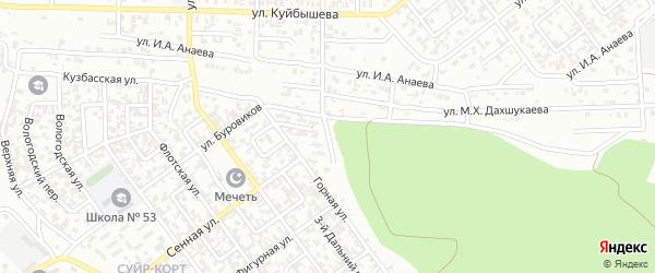 Вагонная улица на карте Грозного с номерами домов