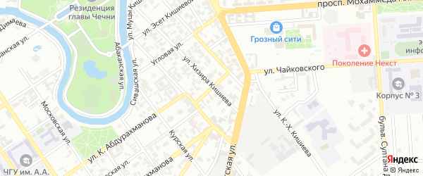 Фруктовая улица на карте Грозного с номерами домов