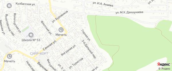 Горная улица на карте Грозного с номерами домов