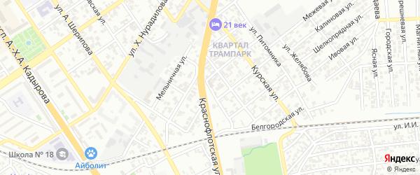 Братский переулок на карте Грозного с номерами домов