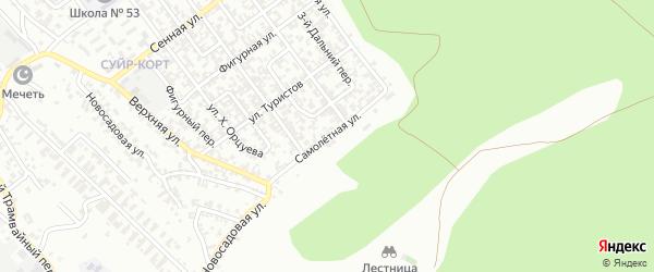 Самолетная улица на карте Грозного с номерами домов