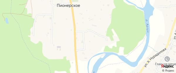 Шоссейная улица на карте Пионерского села с номерами домов