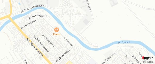 Петропавловское шоссе 5-й переулок на карте Грозного с номерами домов