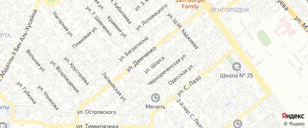 Улица Щорса на карте Грозного с номерами домов
