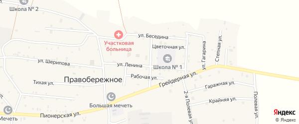 Школьная улица на карте Правобережного села с номерами домов