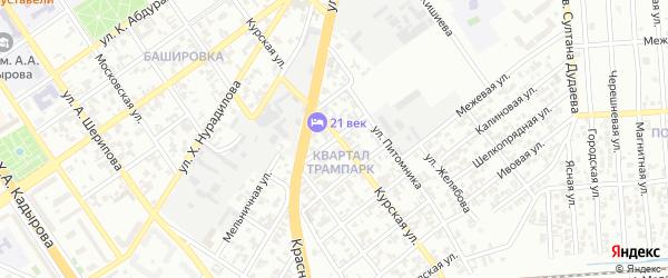 Грядущая улица на карте Грозного с номерами домов