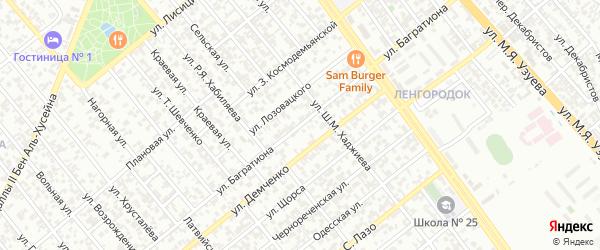 Улица Багратиона на карте Грозного с номерами домов
