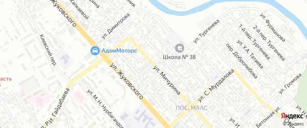 Улица Мичурина на карте Грозного с номерами домов
