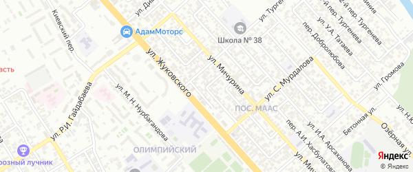 Мичурина 3-й переулок на карте Грозного с номерами домов