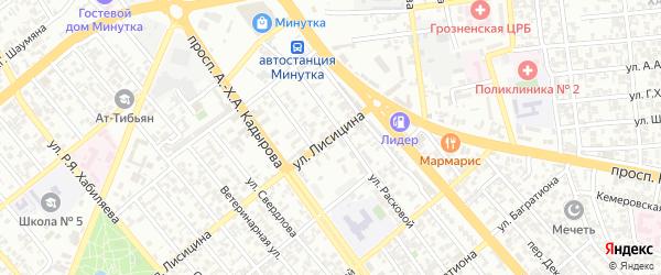 Групповая улица на карте Грозного с номерами домов