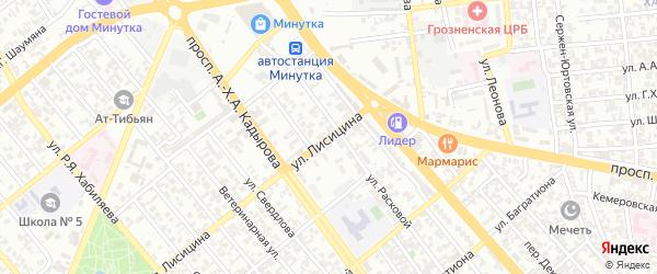 Групповой переулок на карте Грозного с номерами домов