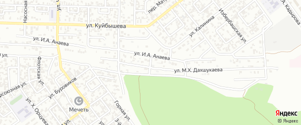 Улица им Лукмана Дахшукаева на карте Грозного с номерами домов