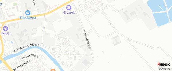 Молдавская улица на карте Грозного с номерами домов