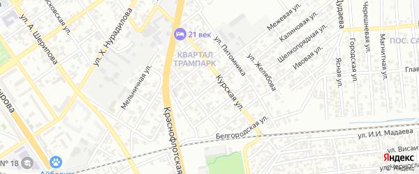 Здоровая улица на карте Грозного с номерами домов