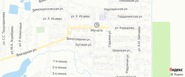 Улица им И.Асеева на карте Грозного с номерами домов
