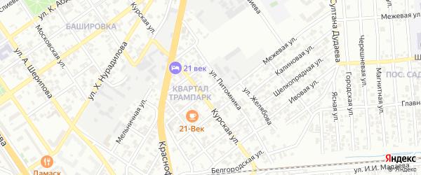 Улица Тагирова Гапура на карте Грозного с номерами домов